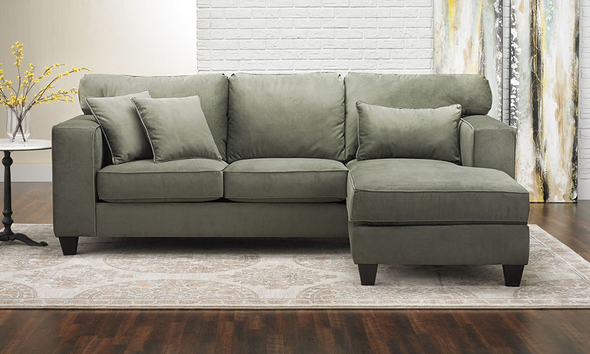 Lake Mist Chaise Sectional Sofa