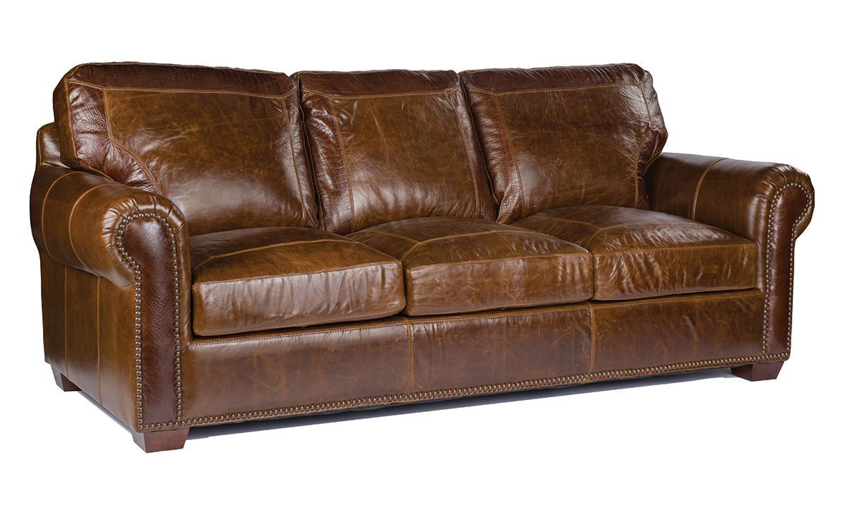 Astonishing Caiman Leather Sofa Squirreltailoven Fun Painted Chair Ideas Images Squirreltailovenorg