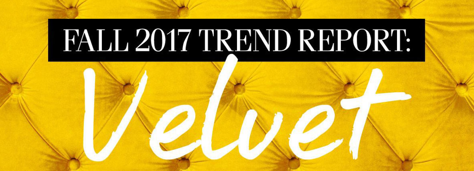 Fall 2017 Trend Report Velvet The Dump Luxe Furniture Outlet