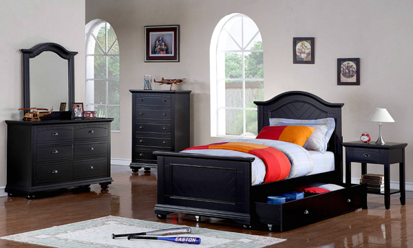 Brook Full Bedroom with Twin Trundle |The Dump Luxe Furniture Outlet