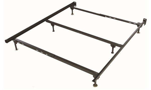 Glideaway Deluxe Recycled Steel Queen Bedframe with 6 Legs