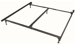 King-size bedframe crafted from recycled steel with 6 legs