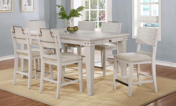 Avalon Furniture Bellvielle 5-Piece Vintage Counter Height Dining Set