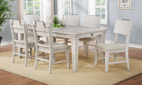 Antique Dining Chairs >> Avalon Bellvielle White 5 Piece Vintage Dining Set The Dump Luxe