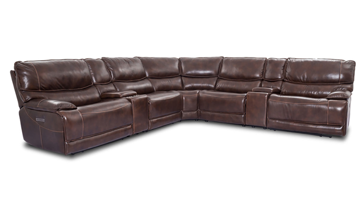 Leather Dual Reclining Sectional