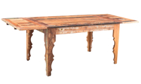 Bali Handmade Solid Teak Wood Blend 55-Inch Dining Table with Extension to 87-Inch Table from India