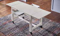 A-America Aberdeen 87-Inch Extendable Counter Height Storage Table in White Finish - Top View