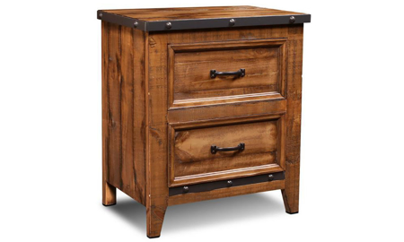 Horizon Home Urban Rustic 2-Drawer Nightstand crafted in Solid Pine