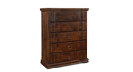 Horizon Home Grand Rustic Solid Pine Chest with Five Full-Extension Drawers