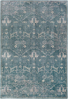 Modern machine-made Egyptian area rug in aqua with hints of beige