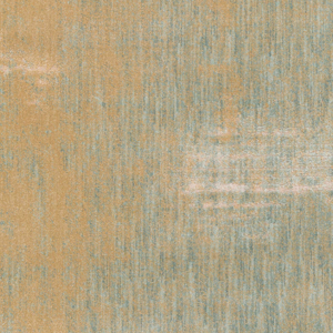 Modern machine made Egyptian area rug with splashes of beige, cream and green - Close up