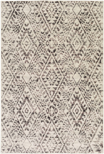 Polyester wool blend Surya Stretto rug comes in a black & cream diamond tribal pattern in a durable long lasting material that is easy to clean & maintain.