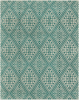 Polyester wool blend Surya Stretto rug comes in an electric blue diamond pattern design in durable and long lasting material.