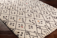 Shop the Surya Wilder Collection rug with Khaki & diamond block pattern speckled with black dots for a fashion forward charm perfect for your floor decor.
