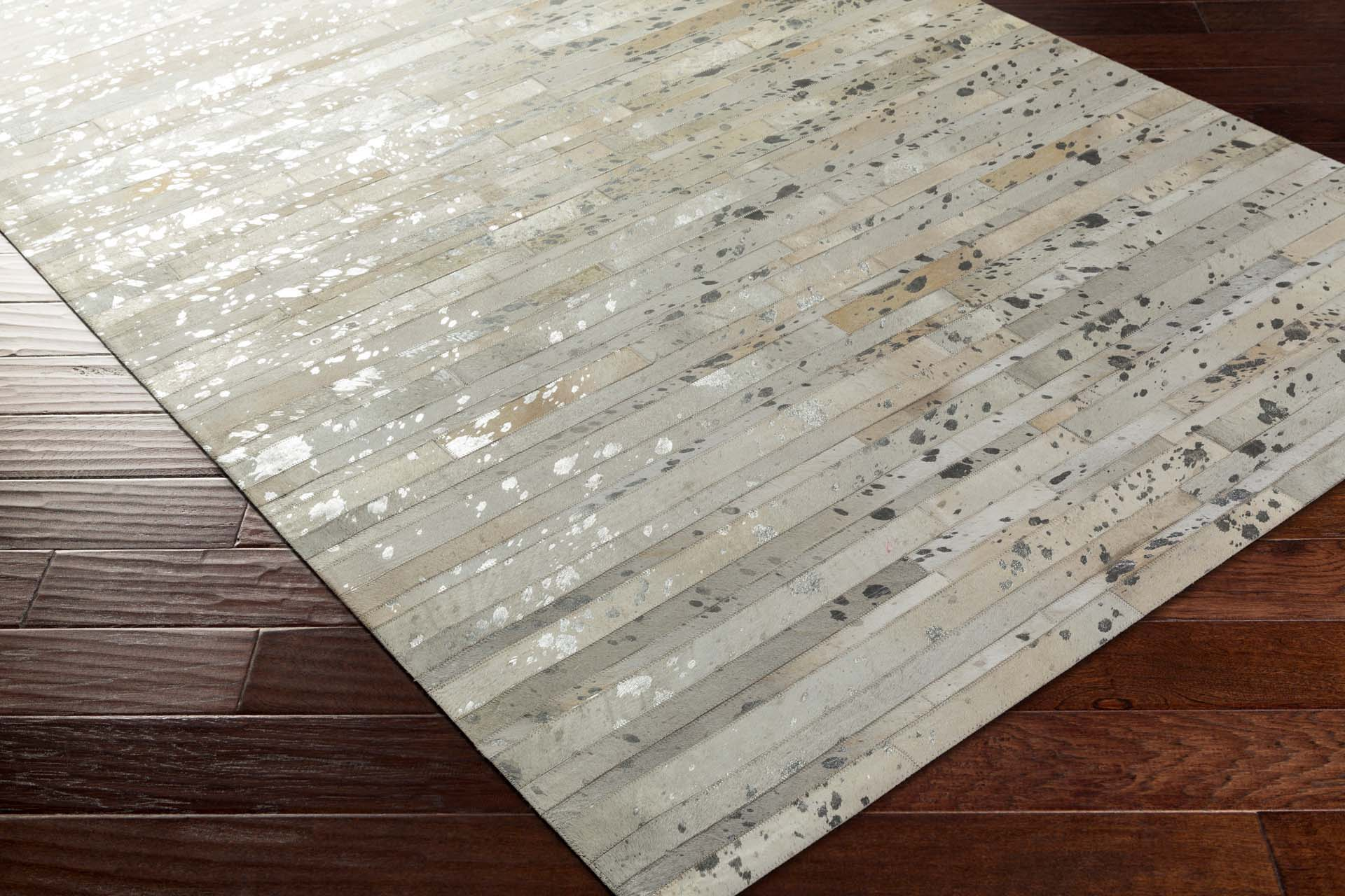 Handmade Surya Hewitt Collection rug comes in light gray and ivory  rustic panel pattern and fashion forward overtones perfect for your living room floor decor.