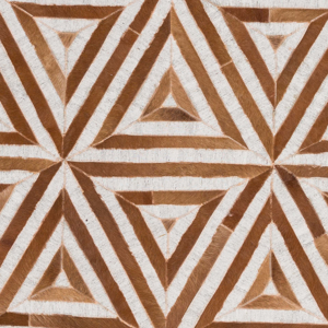 Handmade Surya Medora Collection rug comes in a camel and brown triangle tribal print pattern for fashion forward overtones perfect for your living room floor.