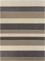 Handmade Surya Thread Collection rug is made with wool felted from India with natural neutral tone colors in a striking pattern design.