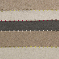 Handmade Surya Thread rug wool felted from India in an earth tone stripe pattern with spot only cleaning accompanied with a 1 year warranty.