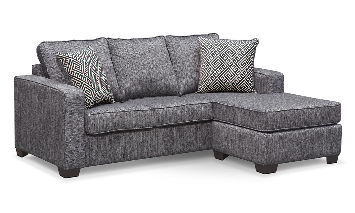 - Minhas Sterling Queen Sleeper Sofa With Reversible Chaise The Dump Luxe  Furniture Outlet