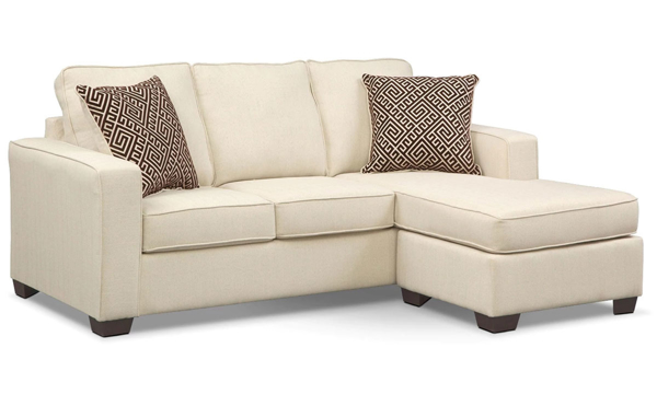 Minhas Beige Queen Sleeper Sofa with Reversible Chaise