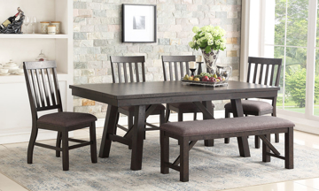 Urban Styles Kingston Acacia 5-Piece Farmhouse Dining Set