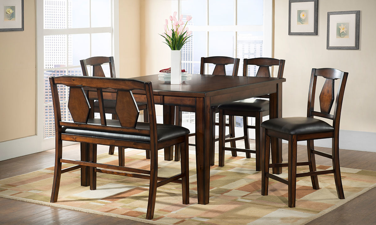 Urban Styles Napa Acacia 7 Piece Counter Height Dining Set