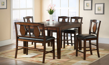 Urban Styles Napa Acacia 7-Piece Counter Height Dining Set