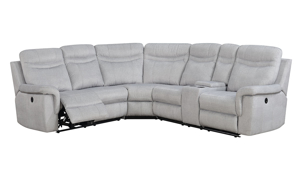 Shino  Sectional Sofa featuring Power Recline, Storage Console, Cup Holders and USB Charging in Gray Fabric
