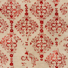 Trendy and timeless hand tufted area rug from India with hints of red from the Banshee Collection - Detailed Shot