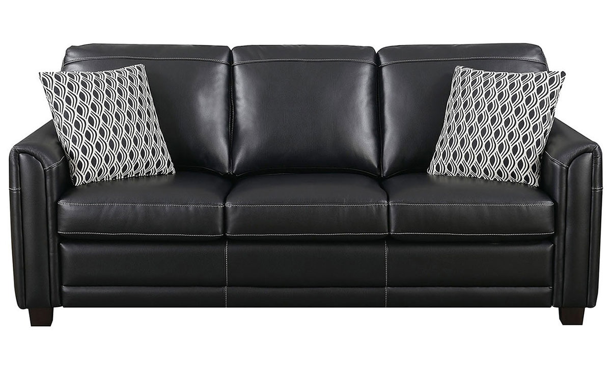 Jennifer Furniture American Made Flare Arm Sofa