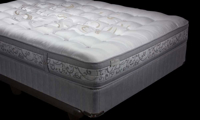 Luxury king mattress handcrafted from Egyptian cotton in Northern England with 3000 coils - Silhouette Shot