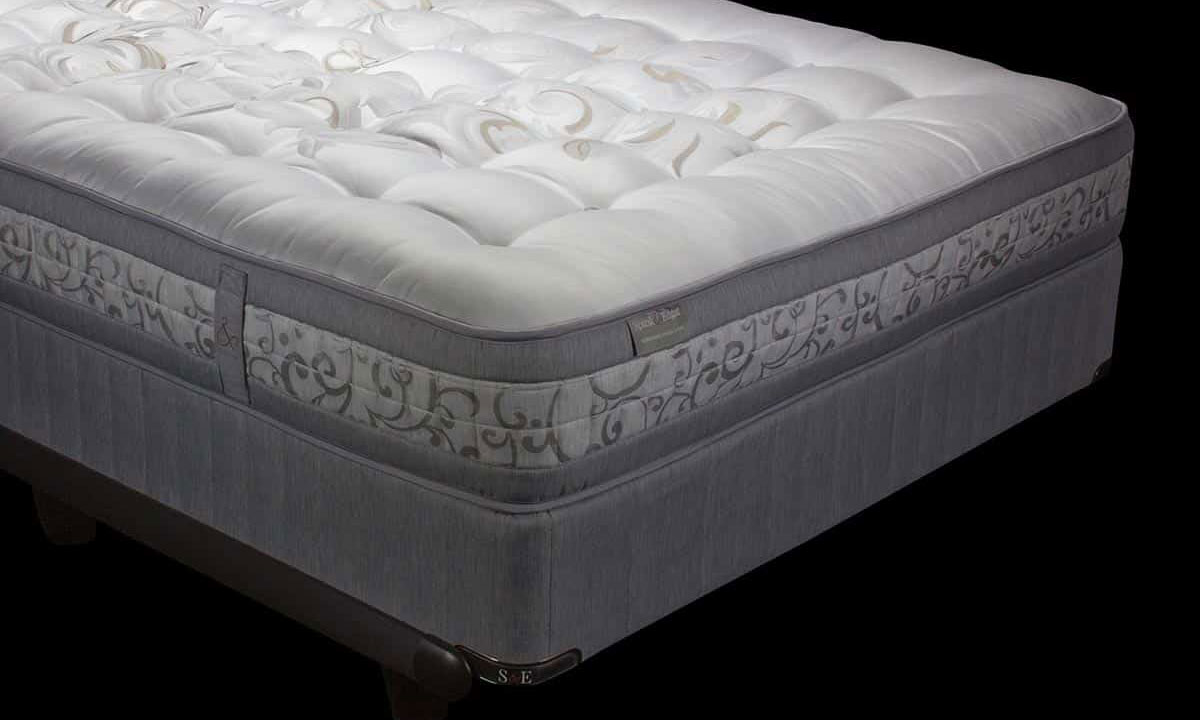 Luxury closeout queen mattress handcrafted from Yorkshire wool with 5000 coils from Spink & Edgar - Silhouette shot
