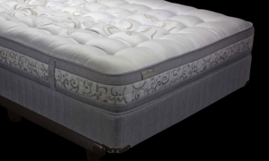 Luxury closeout king mattress handcrafted from Yorkshire wool with 5000 coils from Spink & Edgar - Silhouette shot