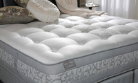 """Luxury 12"""" king mattress handcrafted in England from alpaca wool with over 7000 coils - Cover shot"""