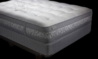 """Luxury 13"""" queen mattress handcrafted in England from Angora wool with over 9000 coils - Silhouette shot"""