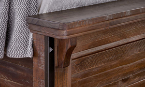 A-America Marquez Rustic Solid Pine Queen Storage Bedroom
