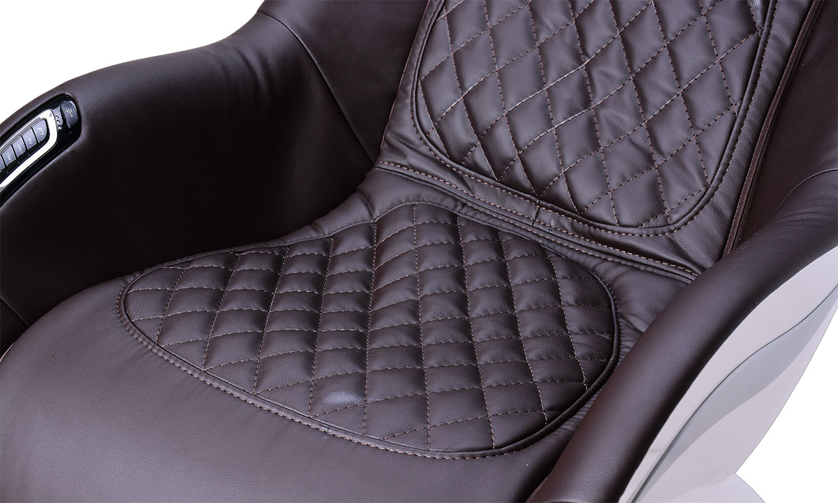 Cozzia Homedics Coffee Massage Chair - Quilted Seating