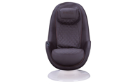 Cozzia Homedics Black Massage Chair with Quilted Pattern in White Shell  - Front View