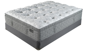 "King Koil 15"" Westminster Ultra Plush Mattress with HypurGel infused memory foam and tencel fabric in bedroom"