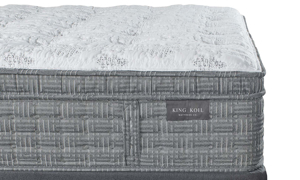 "King Koil 15"" Westminster Ultra Plush Mattress with HypurGel infused memory foam and tencel fabric - Closeup shot"