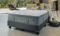 """King Koil 15"""" Westminster Ultra Plush Mattress with HypurGel infused memory foam and tencel fabric in bedroom"""