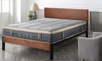 """11"""" pillow-top hybrid full mattress with innerspring coils and memory foam from Classic Brands - Angled Shot"""