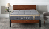 """11"""" pillow-top queen hybrid mattress with innerspring coils and memory foam from Classic Brands - Front View"""