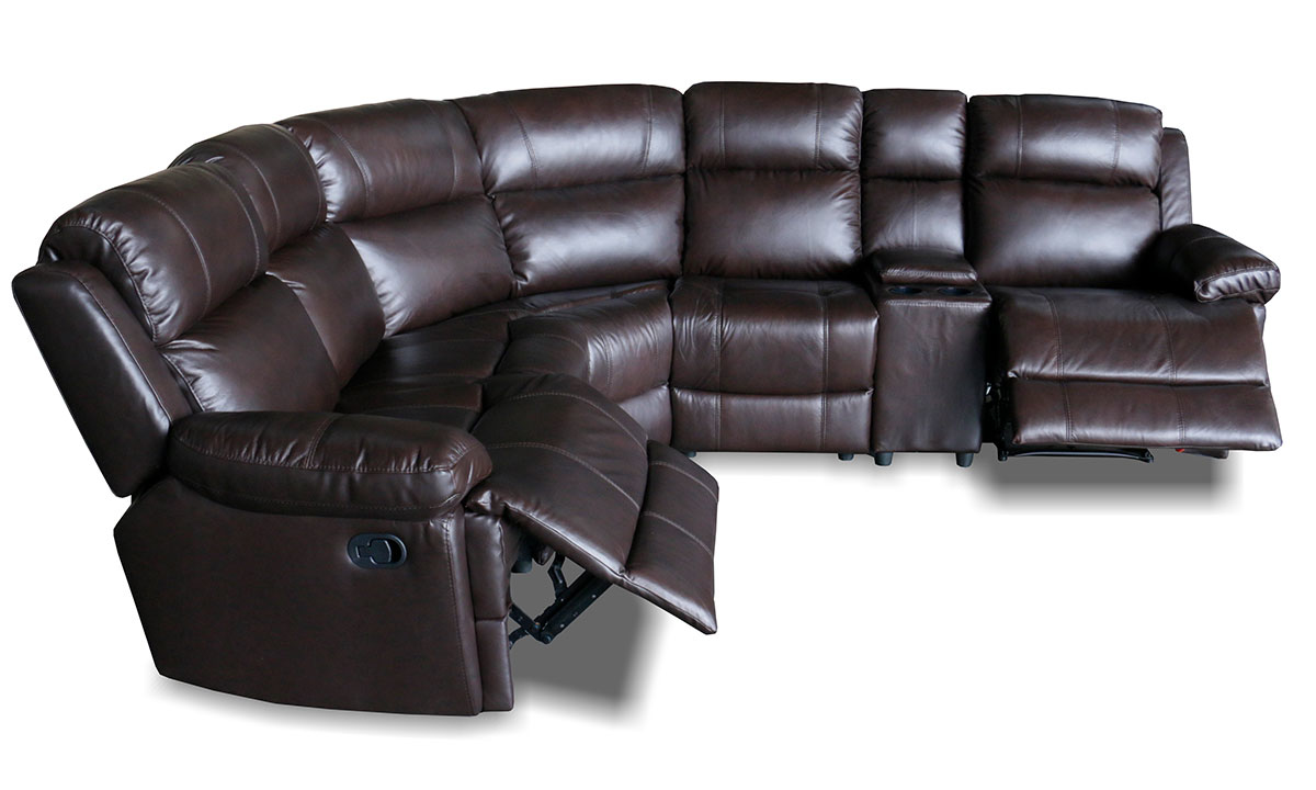 Burgundy 6-Piece Reclining Sectional