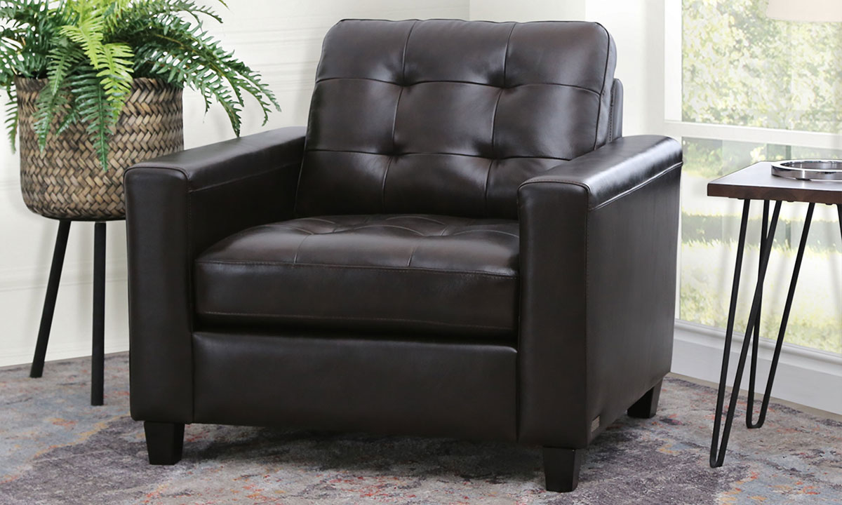 Picture of Abbyson Living Top Grain Leather Arm Chair