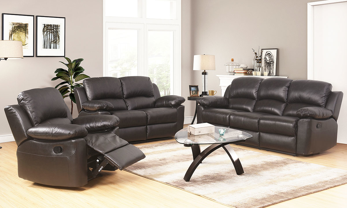 Magnificent Toscana Top Grain Leather Reclining 3 Piece Living Set Pdpeps Interior Chair Design Pdpepsorg