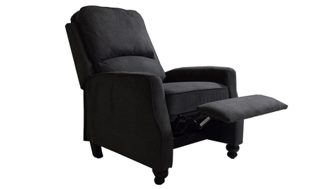 Transitional Bustle-Back Pushback Recliner Grey
