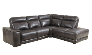 Era Nouveau Grey Top-Grain Power Reclining Chaise Sectional