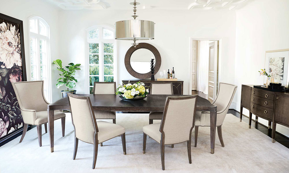 Picture of: Bernhardt Clarendon Dining Set With Host Chairs The Dump Luxe Furniture Outlet