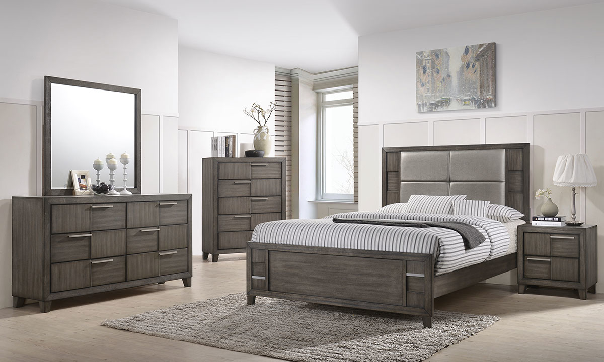 Bedroom Sets.Denton 5 Piece Queen Bedroom Set Grey The Dump Luxe Furniture Outlet